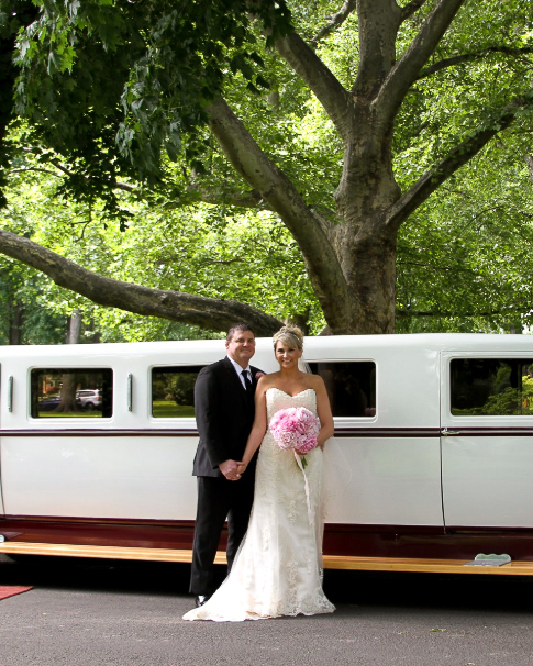 Dream Ride Charter's Bride and Groom Wedding Day Limo Services